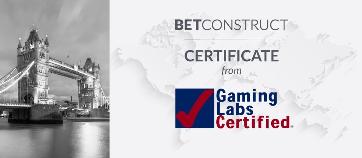 BetConstruct's Live Casino Gets Certified by GLI UK