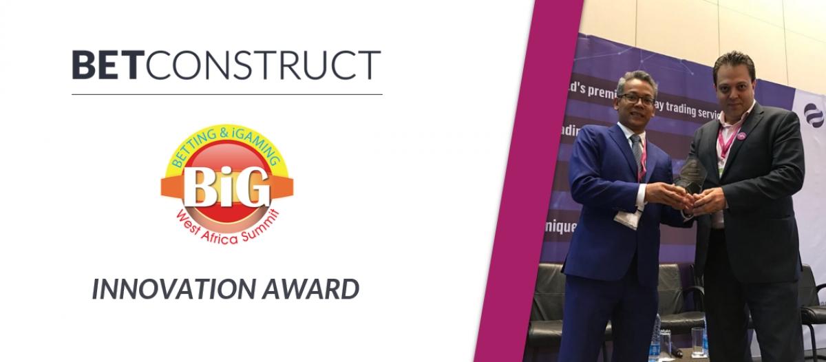 BetConstruct Wins the Innovation Award at SBWA 2018
