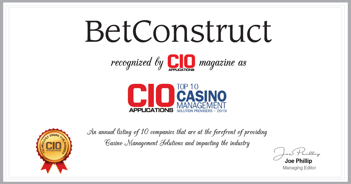 BetConstruct Featured in CIO Applications Magazine