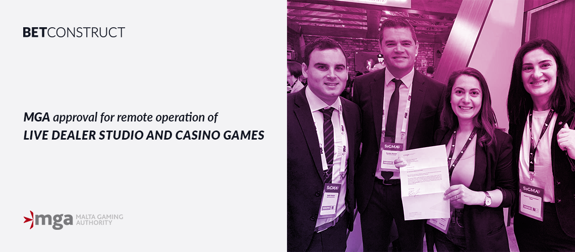 BetConstruct's Live Casino Enters New Markets with an Accreditation from the MGA