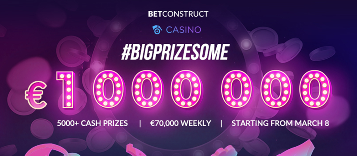 BetConstruct Announces a €1,000,000 Prize Pool Casino Tournament