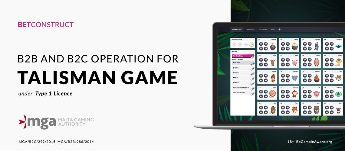 MGA Licenses BetConstruct's Talisman Game