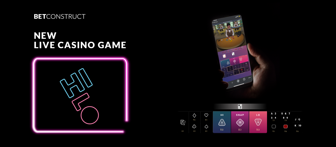 BetConstruct Adds New Hi-Lo Game to its Live Casino Portfolio