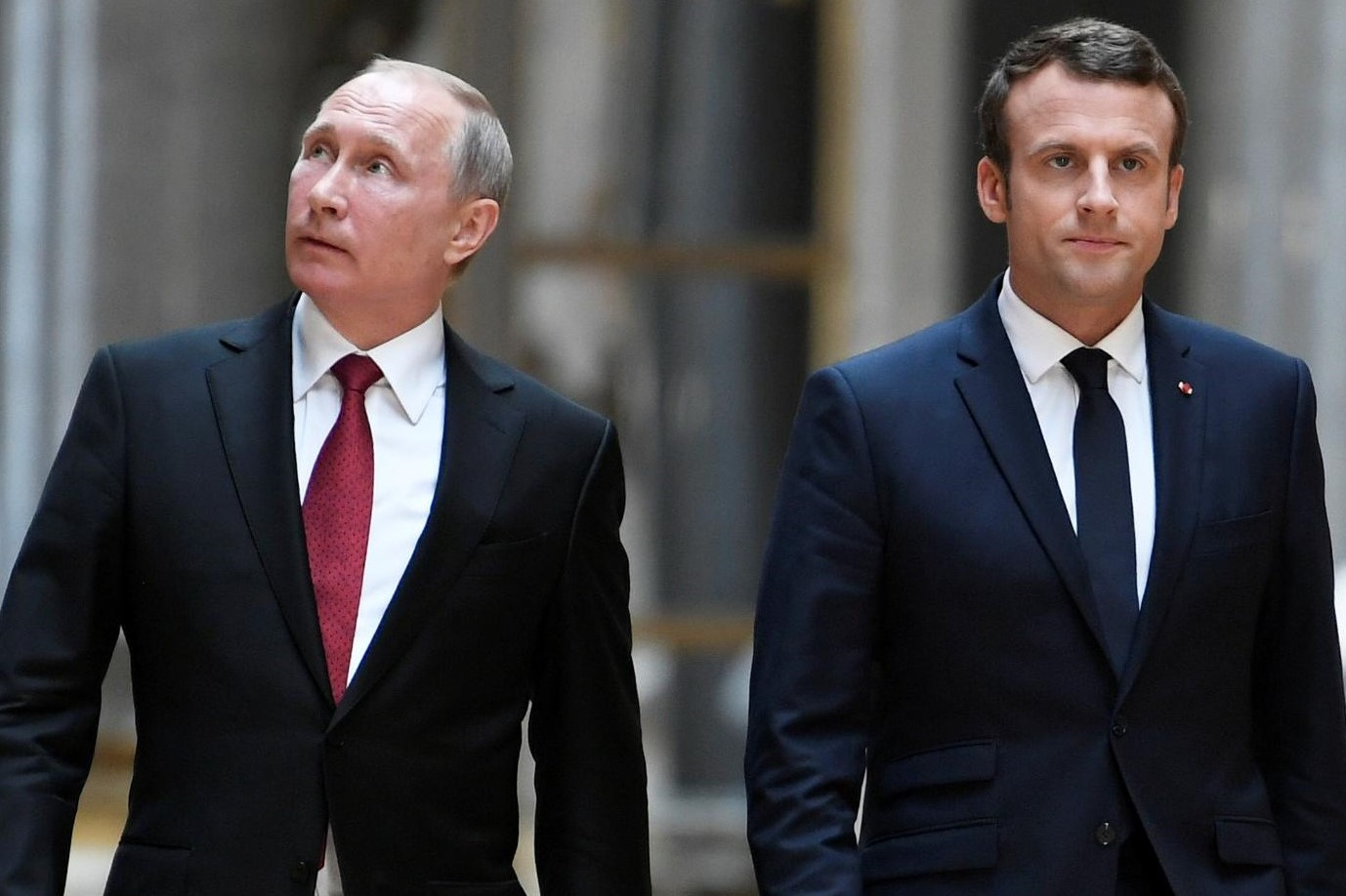Will Macron and Putin have a meeting during the soccer match?