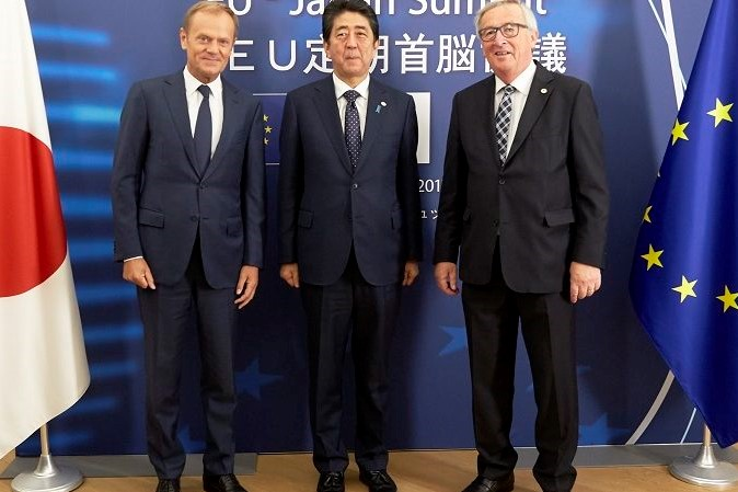 Will US President administration condemn EU-Japan free trade agreement?