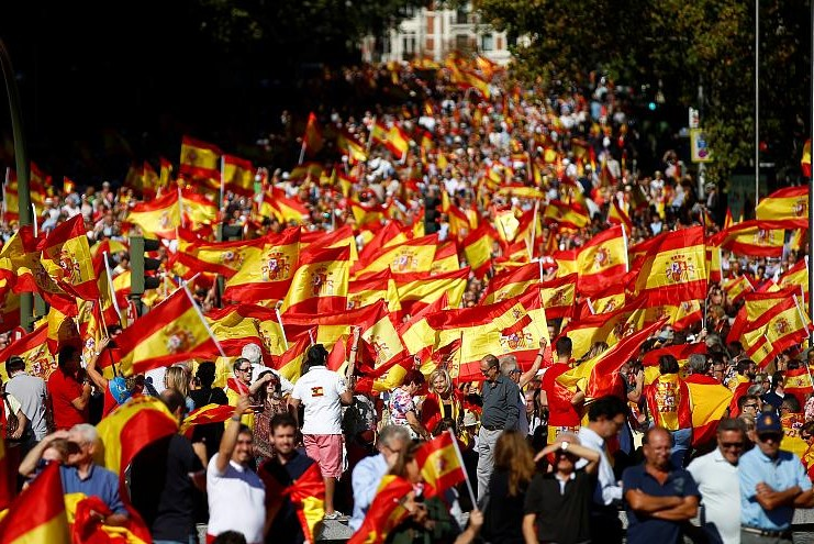 Will Spanish right-wing pro-Franco powers protest against civil war anniversary?