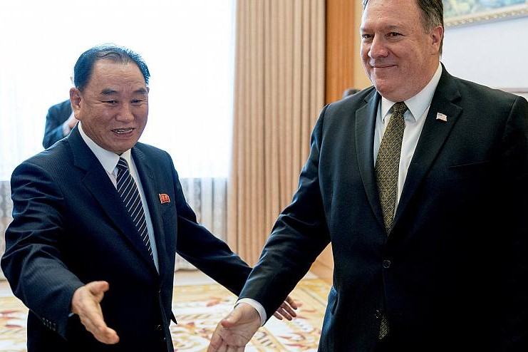 Will meeting between  Mike Pompeo and Kim Yong Chol take place in November?