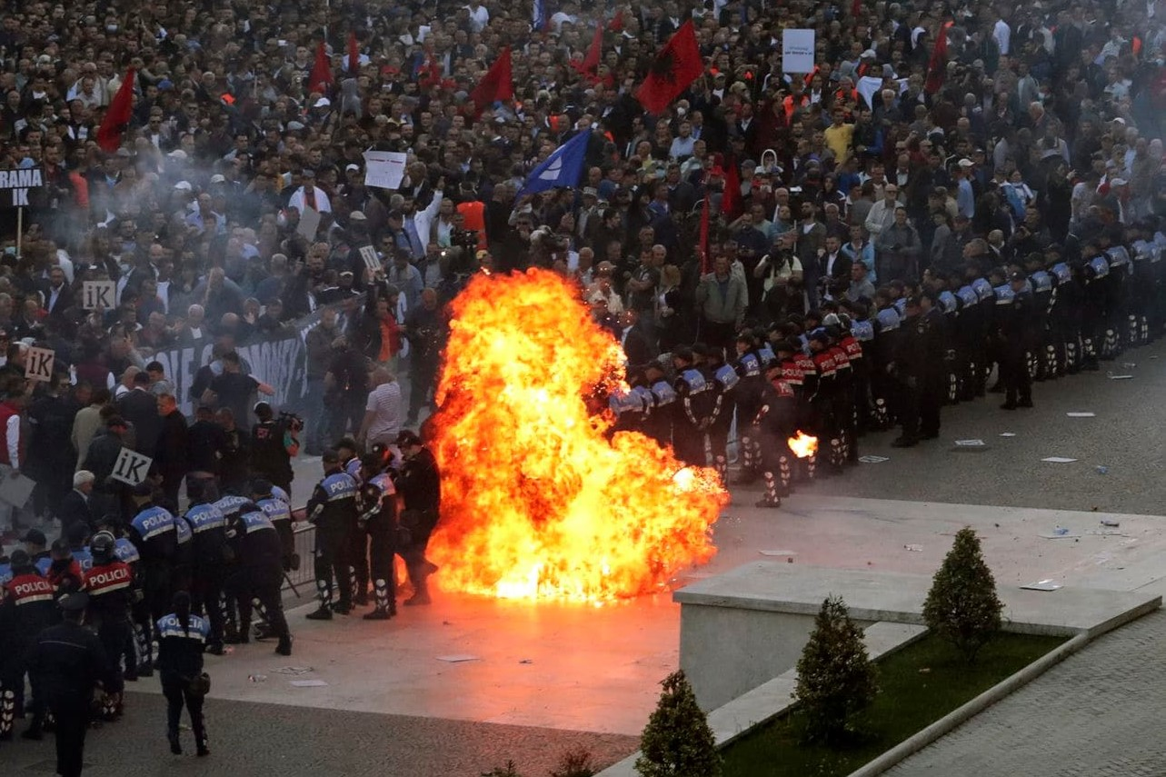 Will Albania's PM resign over protests?