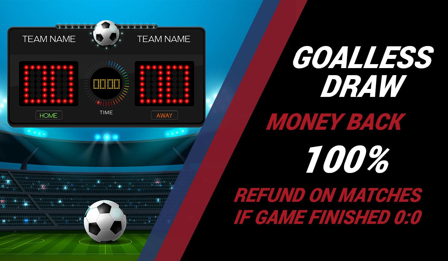 Goalless Draw 50% Cashback