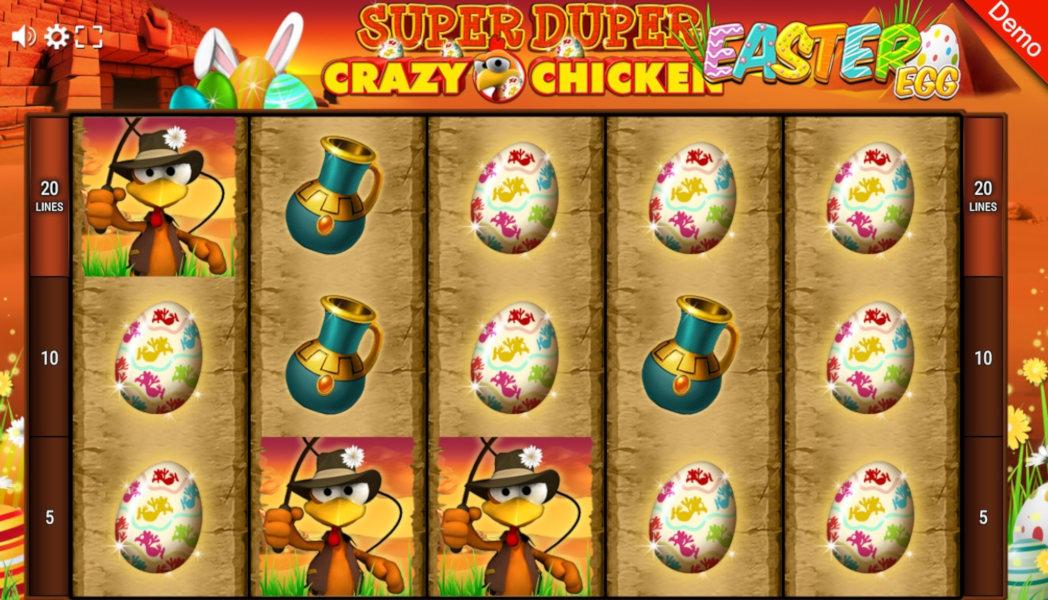 Super Duper Crazy Chicken Easter Egg Slot