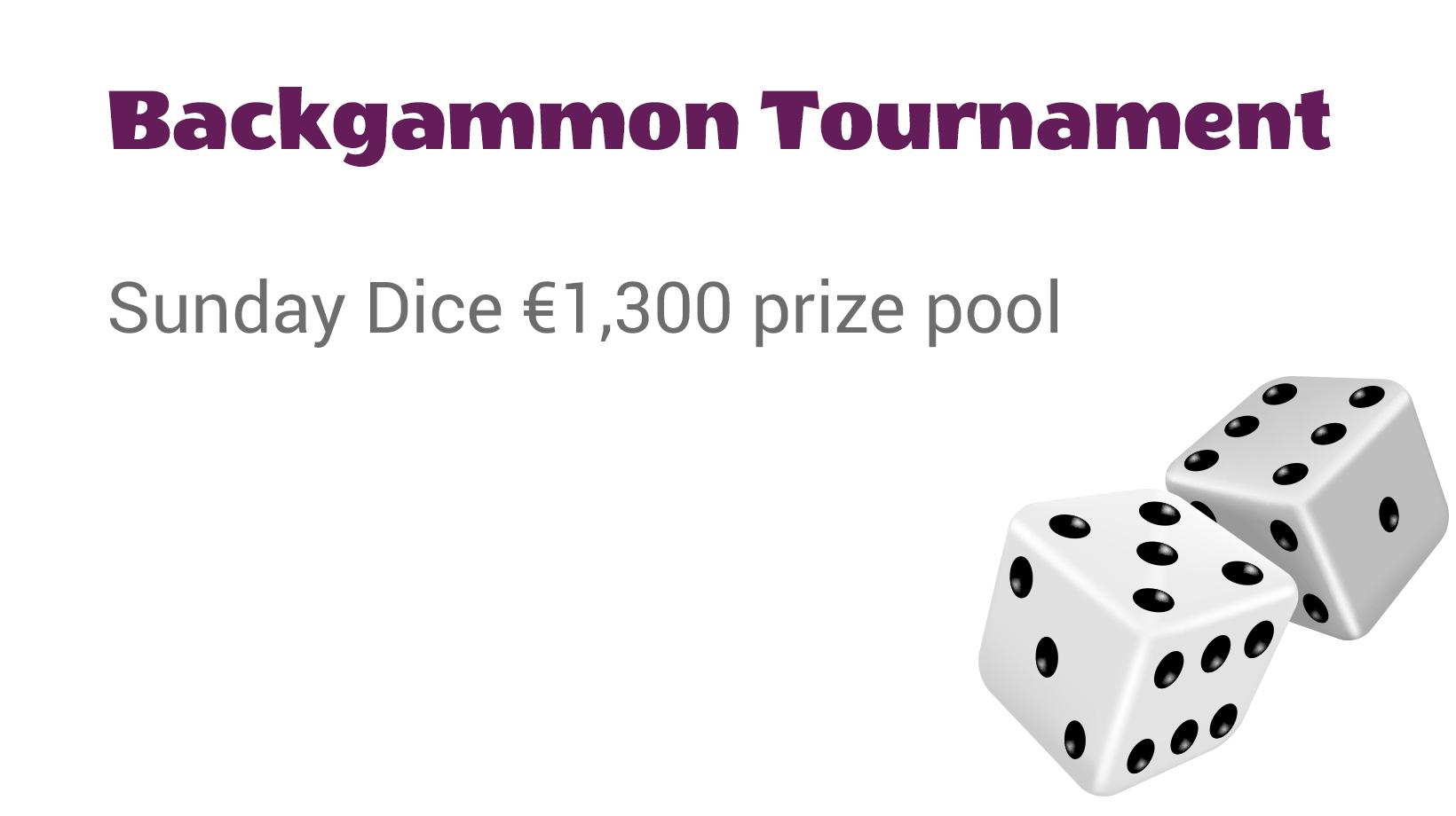 Backgammon Tournament - Sunday Dice