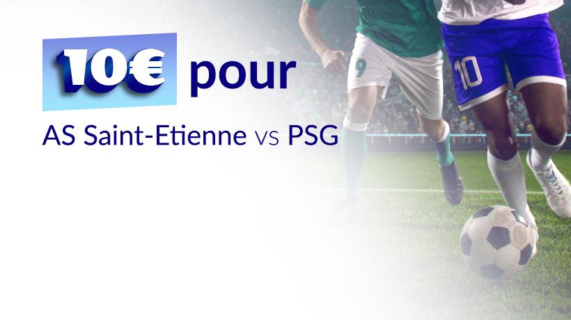 10 € pour AS Saint-Étienne - PSG